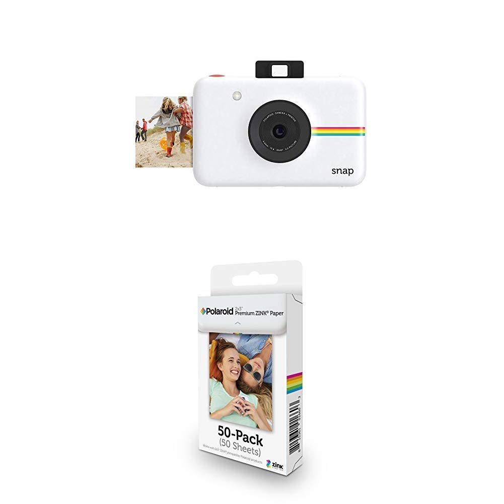 Polaroid Snap Instant Digital Camera (White) with