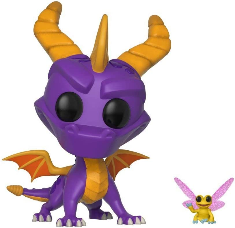 Funko- Pop Games The Dragon-Spyro and Sparx Figura de Vinilo, Multicolor (32763)