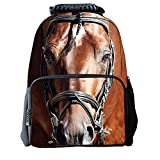 Skymoon Children's 3D Animal School Backpacks (16 Inch,Horse)
