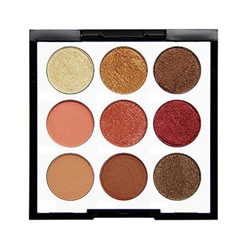 Peacur Shimmer Glitter Eye Shadow Powder Palette Eyeshadow Neutral Nudes Eyeshadow Compact Pearly Dumb Matte (B)