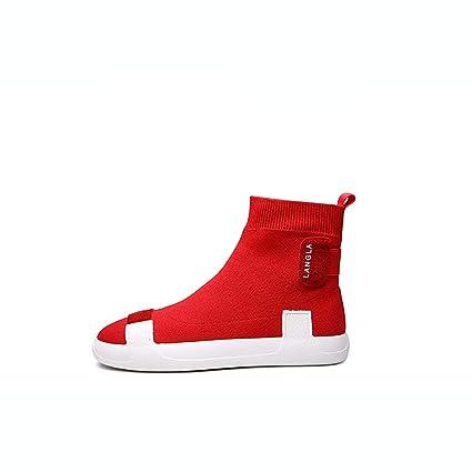 2dbc7f46ca560 Amazon.com: Hy Women's Socks Shoes Spring/Fall Knit Booties/High-Top ...