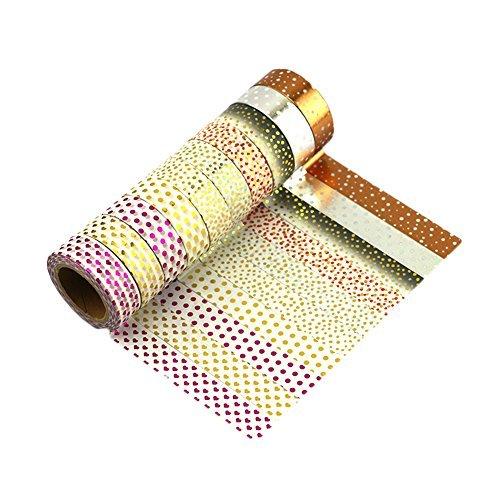 Très Chic Mailanda - Nastro Adesivo Decorativo Washi Nastro Masking tape washi tape Scrapbooking Sticker set di 10 Multicolore ZJ-Mix-I1-10-MIT