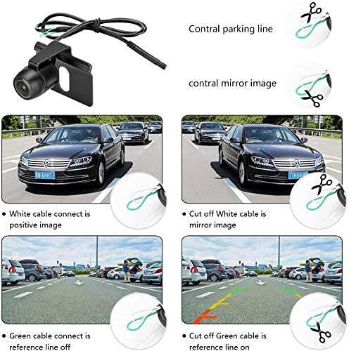RVs Trucks Reversing Backup Camera kit Reverse Camera with 4.3 LCD Monitor IP68 Waterproof Night Vision Rearview Backup Camera Parking Assistance System for Vans Cars
