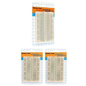 3PCS Mini Solderless Breadboard,400 Ties Clear Circuit PCB Board Kit for Proto Shield Circboard Prototyping