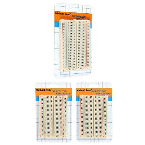 3PCS Mini Solderless Breadboard,400 Ties Clear Circuit PCB Board Kit for Proto Shield Circboard Prototyping Proto Matrix Board