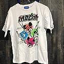 東京ディズニーリゾート限定2017年ミッキー&フレンズ ロックTシャツ 白 Mの商品画像