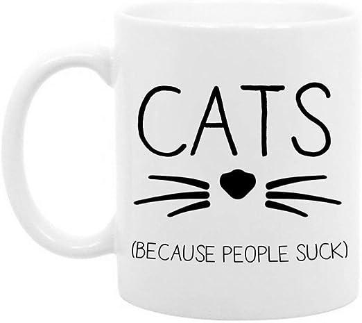 The Coffee Corner - Gatos porque la gente apesta - Taza de café o ...