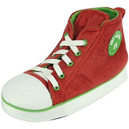 Gohom Women's Christmas Warm Winter Indoor Slipper Boots House Red&green