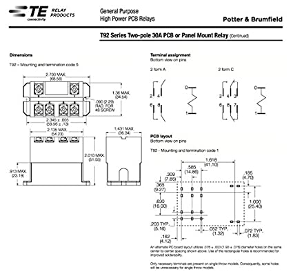 Amazon Com Te Connectivity Potter Brumfield T92p7a22 24 Power