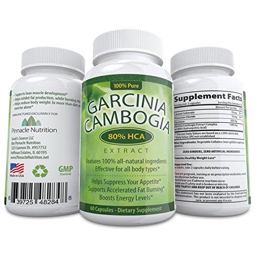 Insanely puissant Garcinia Cambogia Extrait! 80% HCA - Plus haut sur Amazon - # 1 Carb Blocker - diminue l'appétit, augmente l'énergie et brûle les graisses naturellement - Contient un énorme 1400mg 80% HCA w / potassium - Premium et tout-naturel - garant