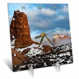 3dRose Danita Delimont - Utah - USA, Utah. Fog descending over eroded cliffs of the Windows Section - 6x6 Desk Clock (dc_260317_1)