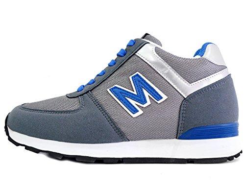 Mnx15 Hommes Ascenseur Chaussures Hauteur Augmentation 2,7 Envy Gris Gris