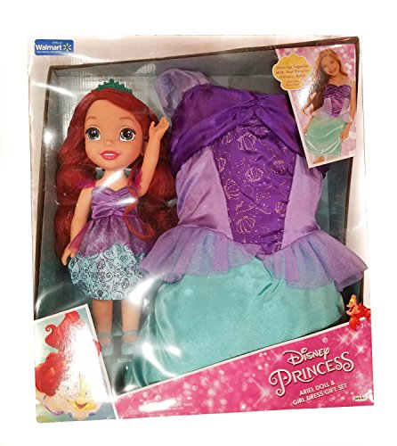 Disney princess ariel doll and girl dress gift set walmart exclusive (Walmart American Girl Dolls)