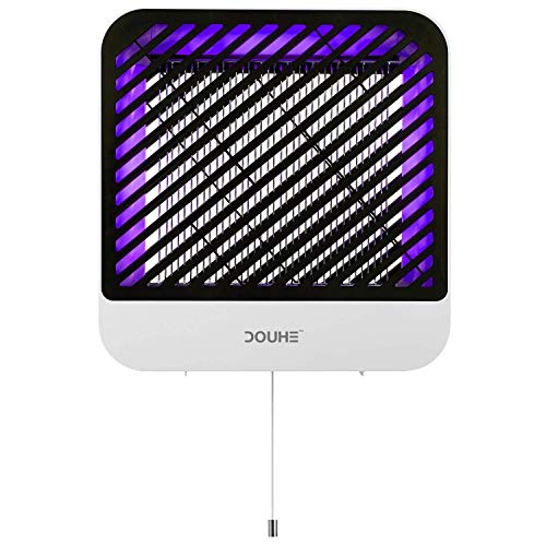 DOUHE Bug Zapper, Fly Trap Indoor Fly Zapper with UV LED Bug Lamp, Mosquito Zapper Non-Toxic No Radiation, Noiseless Plug in Electric Fly Trap, Mosquito Trap 800 SQFT Coverage