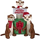 Gemmy 5' Airblown Meercats and Gift Scene Christmas Inflatable