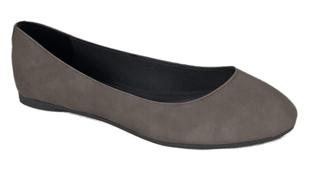Soda Womens Round Toe Ballet Flat Shoes