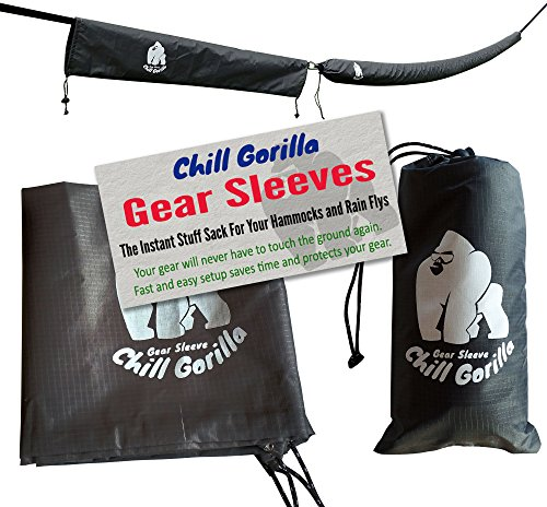 Chill Gorilla Snakeskin Sleeves. Instant Stuff Sack & Protective Cover for hammocks, rain flys, tarps. 173