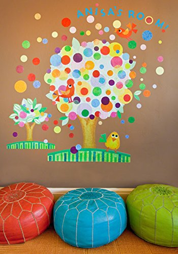 54 by 45 Oopsy Daisy Flower Tree Peel and Place Wall Art