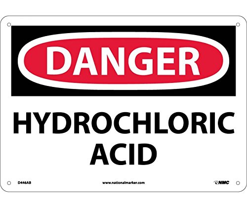 Hydrochloric Acid Sign (National Marker D446AB Danger Hydrochloric Acid Sign)