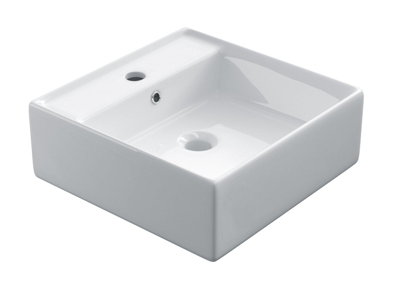 starbath - Lavabo di ceramica soprapiano SK40. Lavandino da appoggio. Lavello