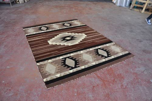 Southwest Native American Area Rug Brown Design NS1 7 Feet 9 Inch X 10 Feet