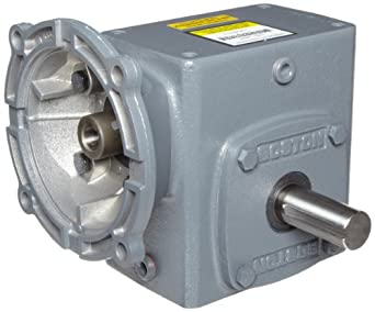 """Boston Gear F72110KB7J Right Angle Gearbox, NEMA 140TC Flange Input, Left Output, 10:1 Ratio, 2.06"""" Center Distance, 2.34 HP and 789 in-lbs Output Torque at 1750 RPM"""