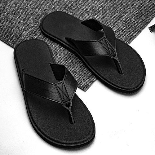 Pantofole pelle da Sandali WFL Nero Sandali Casual da uomo Infradito uomo uomo in Estate Pantofole Sandali da dHxwp0