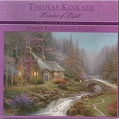 Twilight Cottage Thomas Kincade 1000 Piece Puzzle By Ceaco