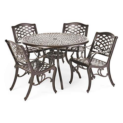 Patio Furniture In Hallandale Florida: Hallandale Outdoor Furniture Dining Set, Cast Aluminum