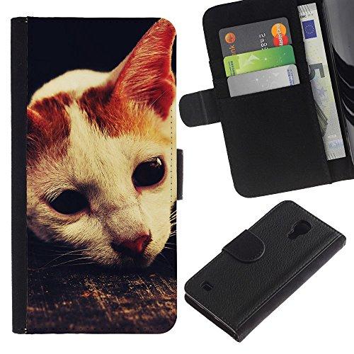 EuroCase - Samsung Galaxy S4 IV I9500 - laperm American shorthair cat singapura - Cuero PU Delgado caso cubierta Shell Armor Funda Case Cover
