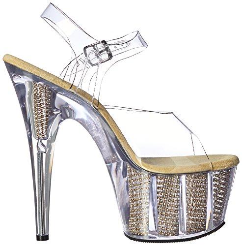 Platform Clr SRS Gold g Pleaser Sandal c Gold Women's Srs Clr Ado708srs g4nnqIwABY