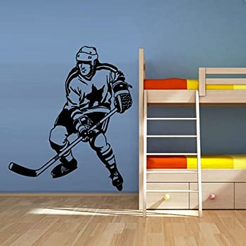 Amazon Com Wall Decal Vinyl Sticker Decals Hockey Player