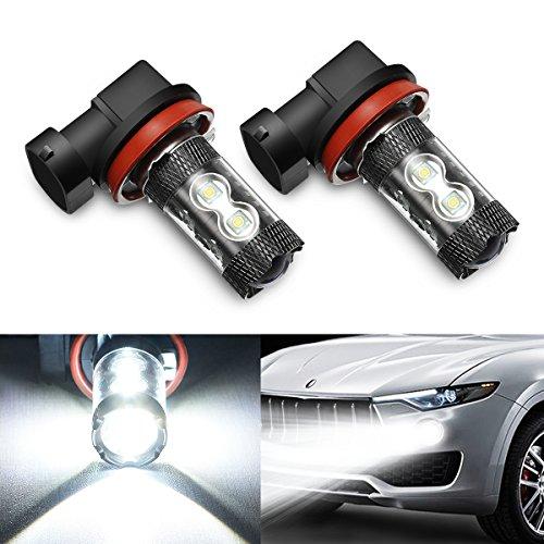 AMBOTHER H11 Nebelscheinwerfer Auto LED Nebellicht Xenon 50W DRL 6000K Weiß 12V