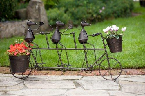 Metal Figura de 3 Ratones en bicicleta, Jardín Decoración ...