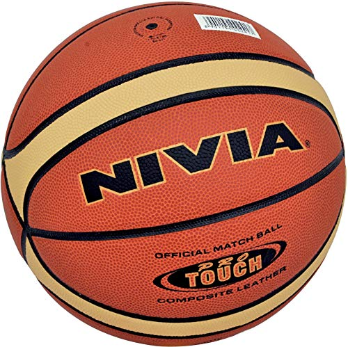 Nivia Pro Touch Synthetic/Composite Basketball   Size: 7, Color : Multicolour, Ideal for : Training/Match