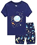 Family Feeling Space Little Boys Shorts Set Pajamas 100% Cotton Clothes Toddler Kid