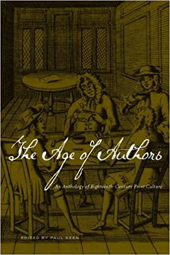 Book The Age of Authors: An Anthology of Eighteenth-Century Print Culture