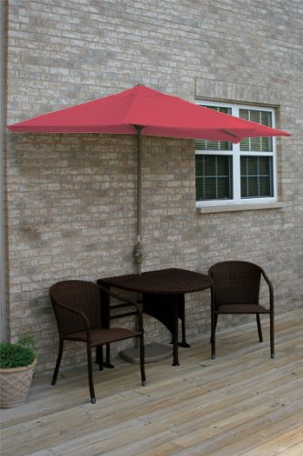 Terrace Mates Genevieve 42 in. 5 Pc Folding Sunbrella Set (Red)