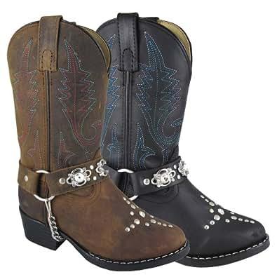 Smoky Mountain Girls' Starlight Western Boot Round Toe Brown 8.5 D(M) US