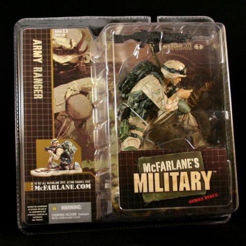 (McFarlanes Military Army Ranger CAUCASIAN Variation Series 1 Action Figure & Display Base)