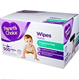quilted baby wipes - Parent's Choice Quilted soft and fragrance free ,Hypoallergenic ,Baby Wipes, 500 sheets ,Extra gentle formula