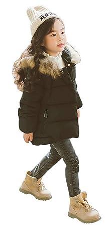 c654683eb82f Magike Doudoune Enfantbébé Fille Hiver avec Capuche Longue Manteau vêtement  Fille Chaud Epais