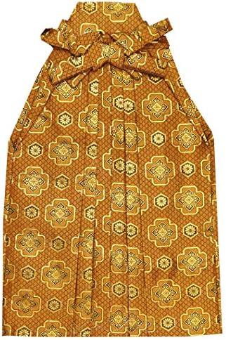 七五三 袴 5歳 男の子 金襴生地の袴 60cm 単品 合繊「黄土 亀甲紋」OHB60-1734tan