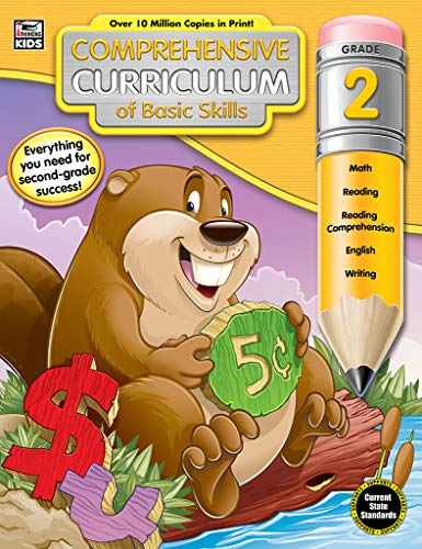 - Comprehensive Curriculum of Basic Skills Workbook for Grade 2, Paperback, 544 Pages, Ages 7-8