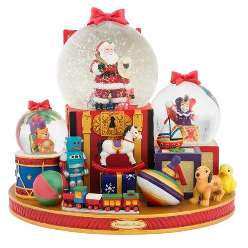 Christopher Radko Toy Time Santa Snowglobe