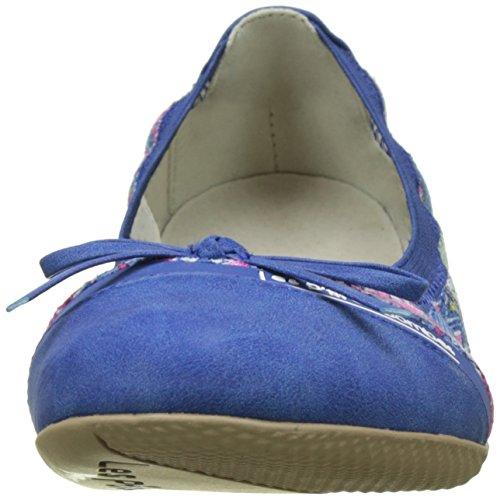 Les Ptites Bombes Damen Caprice Slingback Ballerinas Bleu (Bleu)