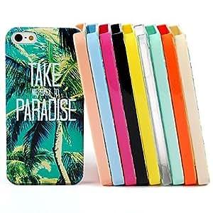 TY-Patrón trasera para el iPhone 5 / 5s (color surtidos) cocotero