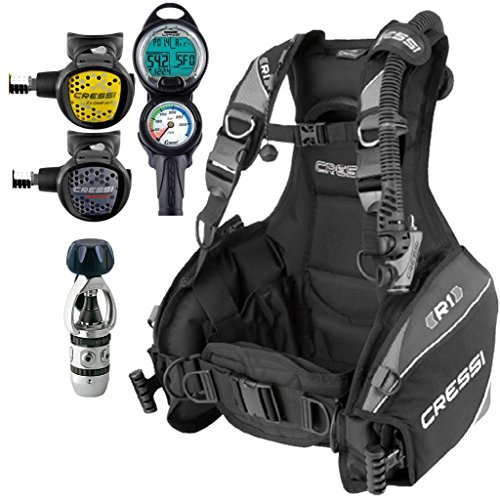 Cressi R1 BCD Scuba Gear Package Medium