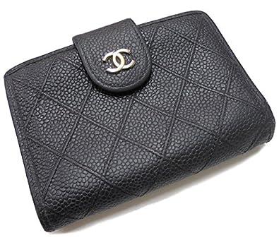 3d6ea865e49e Amazon | シャネル コンパクトがま口財布 ビコローレ ココマーク ブラック×ゴール金具 キャビアスキン [中古] | 財布