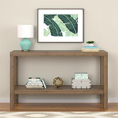 Sturdy Sleek Design Entryway Rustic Oak Console Table (Bombay Living Room Ottoman)